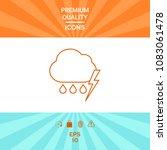 cloud thunderstorm lightning... | Shutterstock .eps vector #1083061478