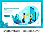 vector concept illustration   ... | Shutterstock .eps vector #1083065690