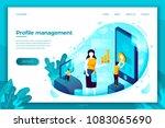 vector concept illustration   ... | Shutterstock .eps vector #1083065690