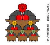 bureaucracy system government...   Shutterstock .eps vector #1083070259