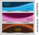 set of modern vector banners... | Shutterstock .eps vector #1083070844