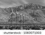 wind turbines creating... | Shutterstock . vector #1083071003