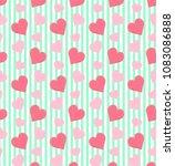 Cute Hearts Pattern In Pastel...