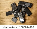 a lot  many of aged  used  old  ... | Shutterstock . vector #1083094136