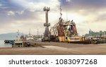 port blair harbor andaman india ... | Shutterstock . vector #1083097268