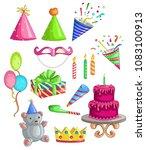 happy birthday vector design... | Shutterstock .eps vector #1083100913
