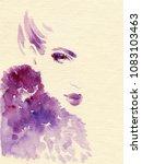 beautiful woman. fashion... | Shutterstock . vector #1083103463