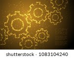 abstract geometric circle dot... | Shutterstock .eps vector #1083104240