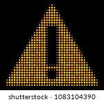 warning halftone vector icon....
