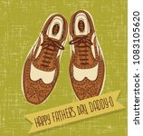 father's day card with hand... | Shutterstock .eps vector #1083105620