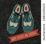 father's day card with hand... | Shutterstock .eps vector #1083105623