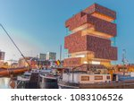 antwerp   may 3  museum aan de...   Shutterstock . vector #1083106526