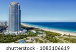 miami beach sunset skyline from ...   Shutterstock . vector #1083106619