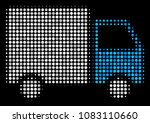shipment van halftone vector... | Shutterstock .eps vector #1083110660