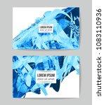 set of vector business card...   Shutterstock .eps vector #1083110936
