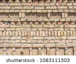 the old brick wall as background | Shutterstock . vector #1083111503