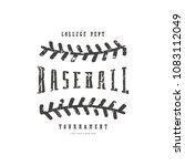 emblem of baseball team.... | Shutterstock .eps vector #1083112049