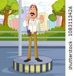 india traffic police vector... | Shutterstock .eps vector #1083113426