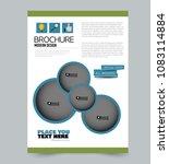 a4 flyer template. abstract... | Shutterstock .eps vector #1083114884