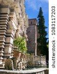 villa d'este tivoli  italy  ... | Shutterstock . vector #1083117203