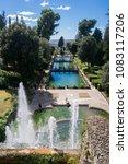 villa d'este tivoli  italy  ... | Shutterstock . vector #1083117206