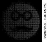 pension smiley halftone vector... | Shutterstock .eps vector #1083122693