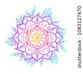 round gradient mandala on white ... | Shutterstock .eps vector #1083127670