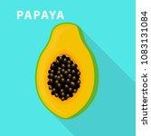 papaya icon. flat illustration...   Shutterstock .eps vector #1083131084