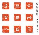www deal icons set. grunge set...   Shutterstock .eps vector #1083131333