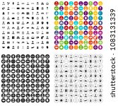 100 wage earner icons set... | Shutterstock .eps vector #1083131339