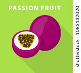 passion fruit icon. flat... | Shutterstock .eps vector #1083132020