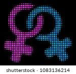 lesbi symbol halftone vector...   Shutterstock .eps vector #1083136214