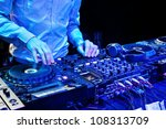 dj mixes the track in nightclub ... | Shutterstock . vector #108313709