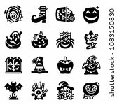 vector trick or treat icon set | Shutterstock .eps vector #1083150830