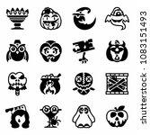 vector halloween party icon set   Shutterstock .eps vector #1083151493