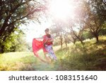 mother carry a one year old... | Shutterstock . vector #1083151640