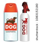cosmetic for pets. shampoo and... | Shutterstock .eps vector #1083152180