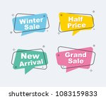 collection of sale discount... | Shutterstock .eps vector #1083159833
