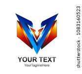 initial letter v logo template... | Shutterstock .eps vector #1083160523