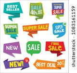 modern sale stickers collection | Shutterstock .eps vector #1083161159