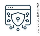cyber security line icon. | Shutterstock .eps vector #1083162803