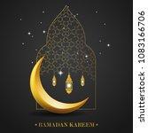 ramadan kareem islamic design... | Shutterstock . vector #1083166706