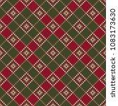 argyle knitting sweater design. ... | Shutterstock .eps vector #1083173630