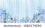 morning glory summer scenery... | Shutterstock .eps vector #1083174050