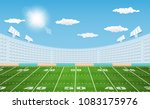american football arena field... | Shutterstock .eps vector #1083175976