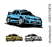 sport car illustration | Shutterstock .eps vector #1083176876