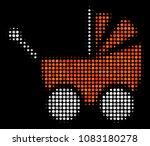 baby carriage halftone vector... | Shutterstock .eps vector #1083180278