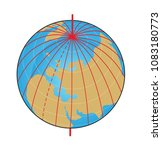 geographic coordinate system of ... | Shutterstock . vector #1083180773