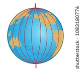 geographic coordinate system of ... | Shutterstock . vector #1083180776