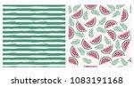 summertime hand drawn set.... | Shutterstock .eps vector #1083191168